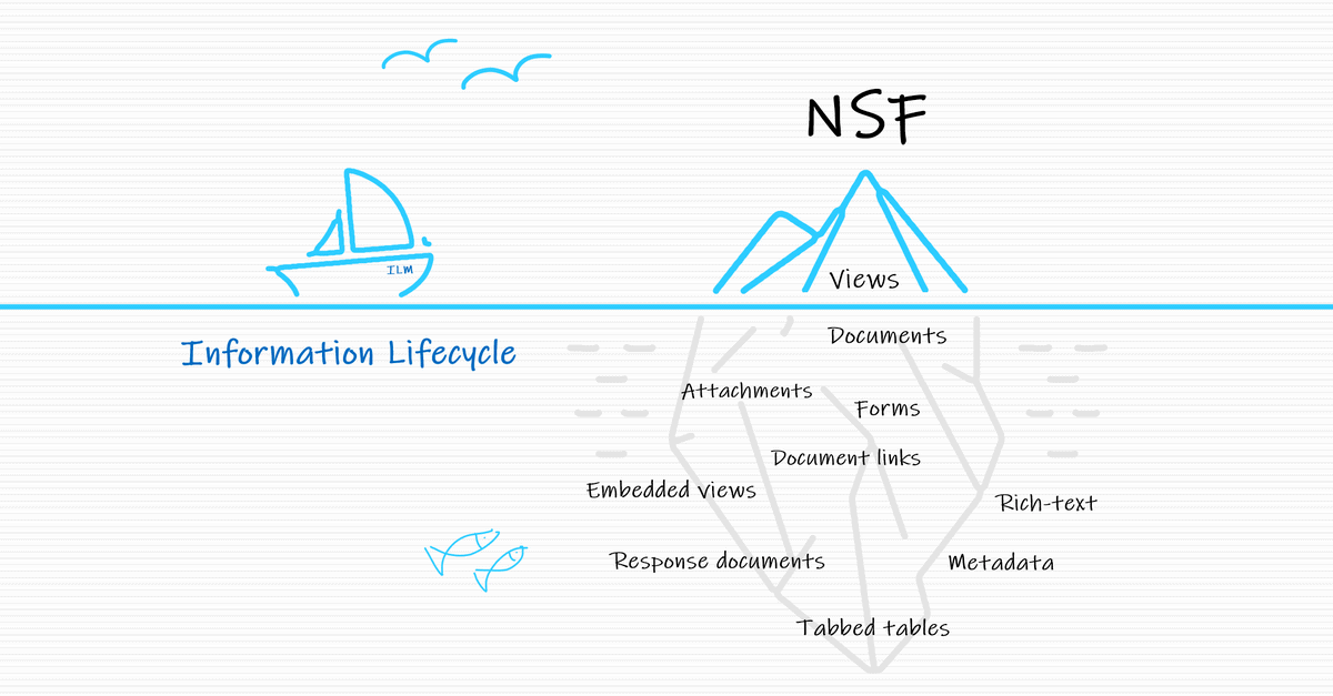 Lotus Notes NSF data and Information Lifecycle Management