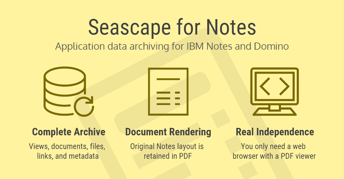 Data archiving for Notes and Domino