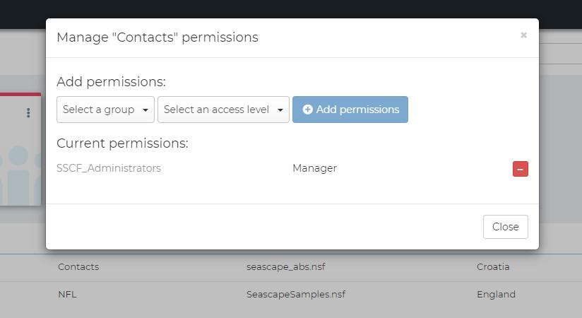 Seascape Flex - database permissions